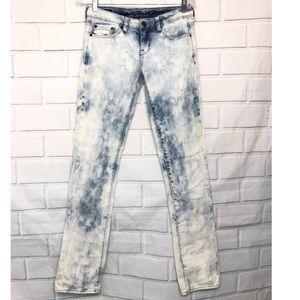 Buffalo Gitane Blue & White Bleached Denim Jeans